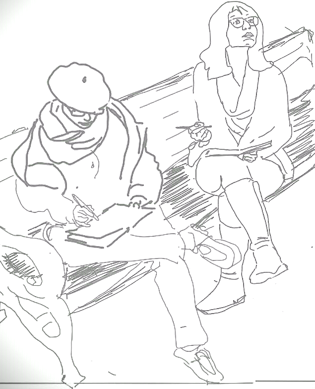 sketchers on a bench.jpg