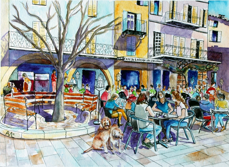 2 dogs café des arcades