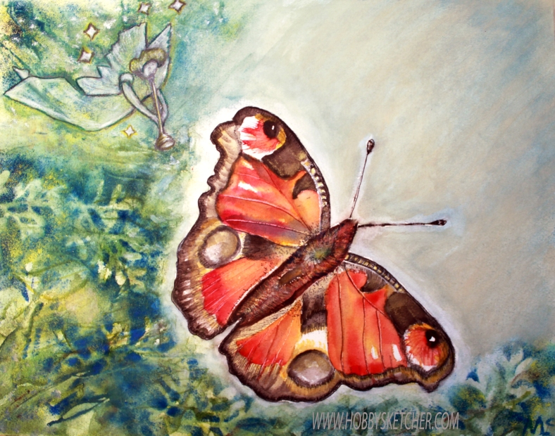 butterfly and angel watermarked